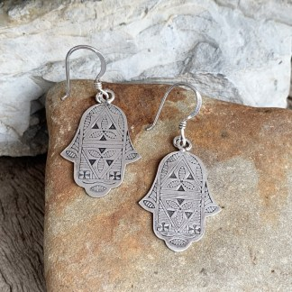 Berber Sterling Hamsa Earrings