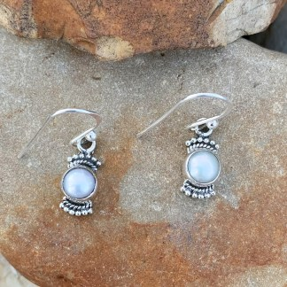 Dainty Sterling & Pearl Earrings