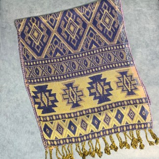 Blue Southwest Design Scarf