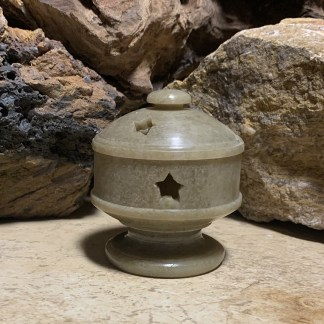 Soapstone Star Cone Burner