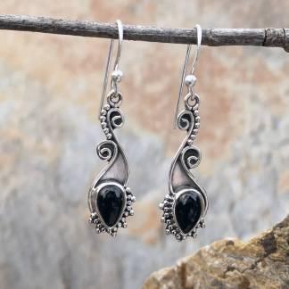 Teardrop Black Onyx Earrings