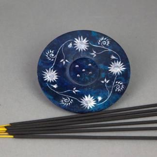 Floral Soapstone Incense Burner