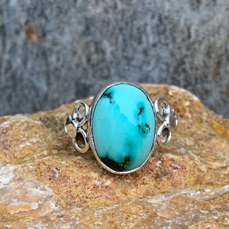 Sterling Oval Turquoise Ring