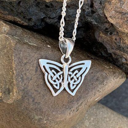 Sterling Celtic Butterfly Pendant