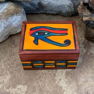 Handcrafted Eye of Horus Box