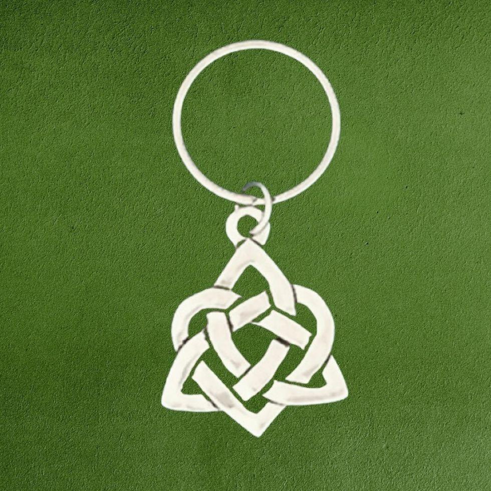 Pewter Celtic Heart Keychain