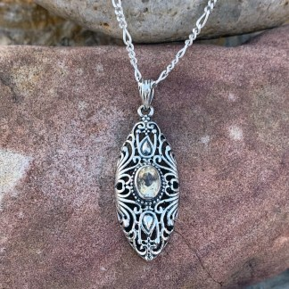 Antique Style Citrine Pendant