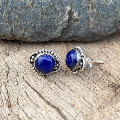 Lapis Lazuli Sterling Studs