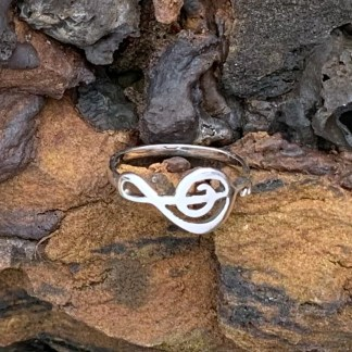 Sterling Treble Clef Ring