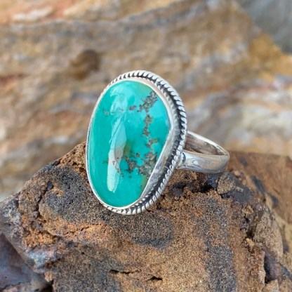Sterling Mexican Turquoise Ring