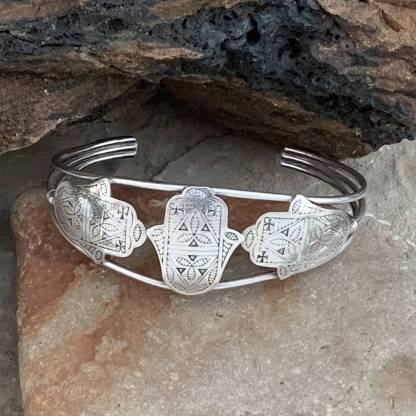 Triple Hamsa Berber Bracelet