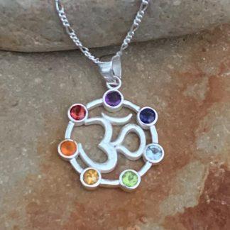 Seven Chakras Gemstone Pendant