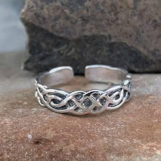 Sterling Celtic Toe Ring