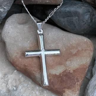 Classic Sterling Cross Pendant