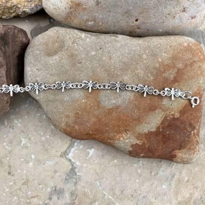 Sterling Silver Dragonflies Bracelet