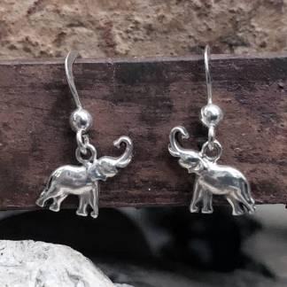 Trunks Up Elephant Earrings