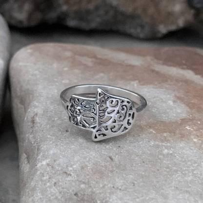 Sterling Side-Wrap Hamsa Ring