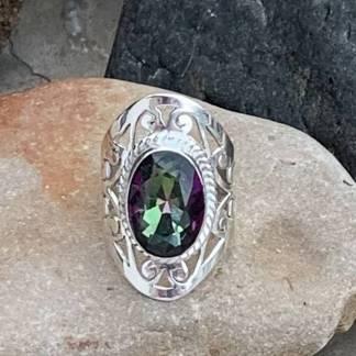 Exotic Mystic Topaz Ring