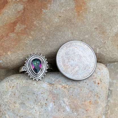 Mystic Topaz Teardrop Ring