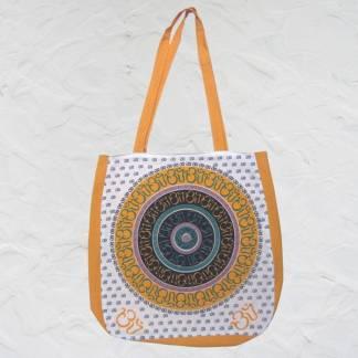 Om Saffron Cotton Bag