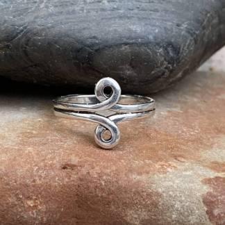 Sterling Double Loop Ring