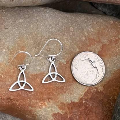 Sterling Trinity Knot Earrings