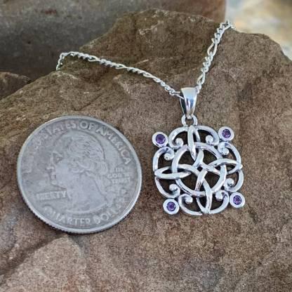 Celtic Knot & Amethyst Pendant