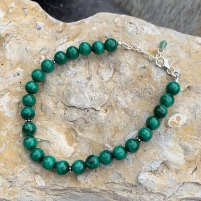 Malachite & Sterling Silver Bracelet