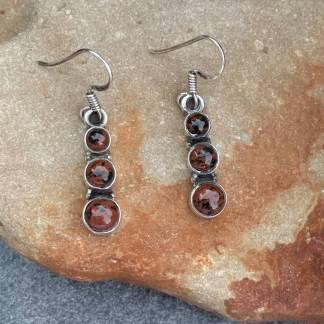 Triple Mahogany Obsidian Earrings