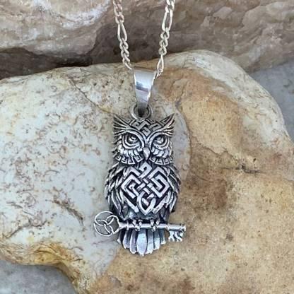 Celtic Owl Key Pendant
