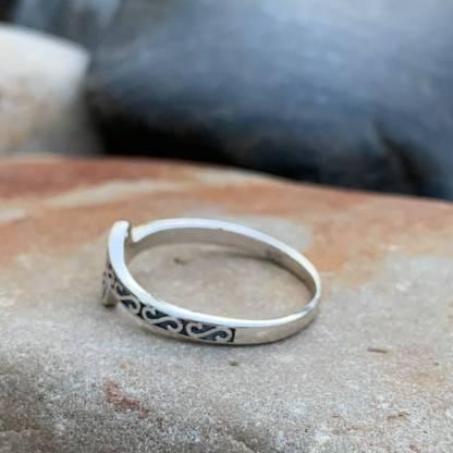 Esses & Spirals Sterling Ring