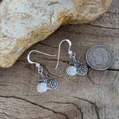 Sterling Silver Sea-Life Earrings