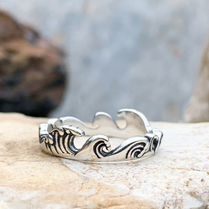 Sterling Silver Waves Ring