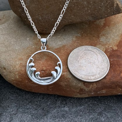 Sterling Silver Waves Pendant
