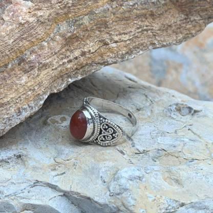 Carnelian Double Heart Ring