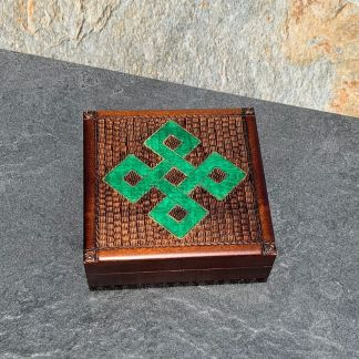 Green Celtic Knot Box
