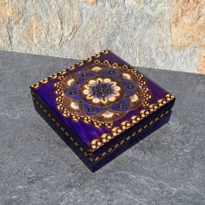 Deep Purple Flower Box