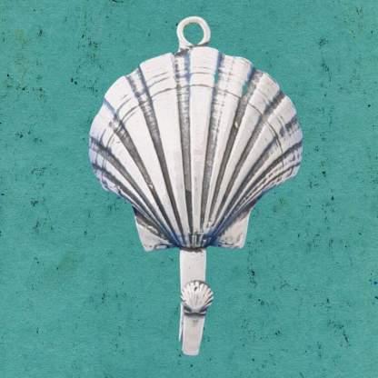 Pewter Seashell Single Hook