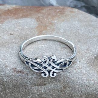 Sterling Dainty Celtic Ring