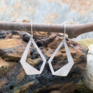 Abstract Sterling Matte-Finish Earrings