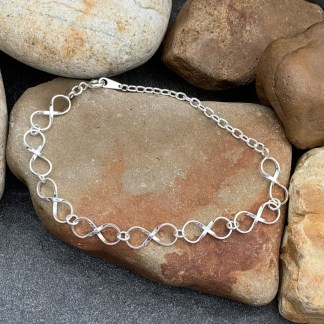 Sterling Infinity Links Bracelet