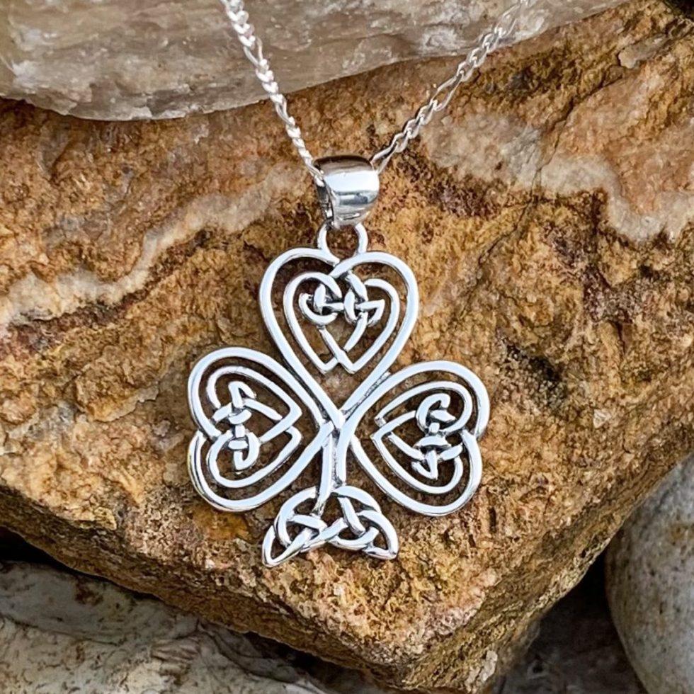 Sterling Celtic Shamrock Pendant