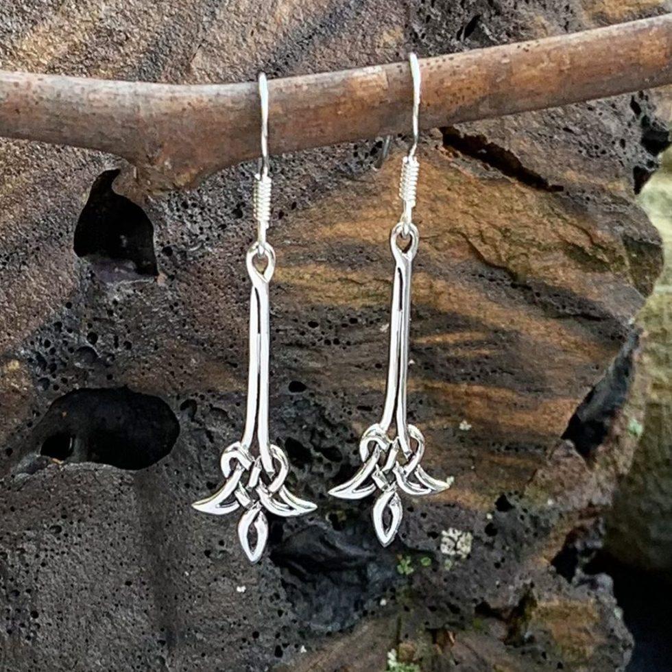 Sterling Celtic Tulip Earrings