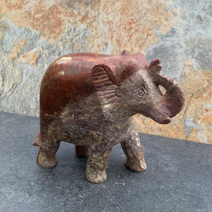 Two-Tone Natural Soapstone Elephant