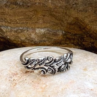 Sterling Climbing Leaves Ring