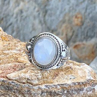 Celestial Rainbow Moonstone Ring