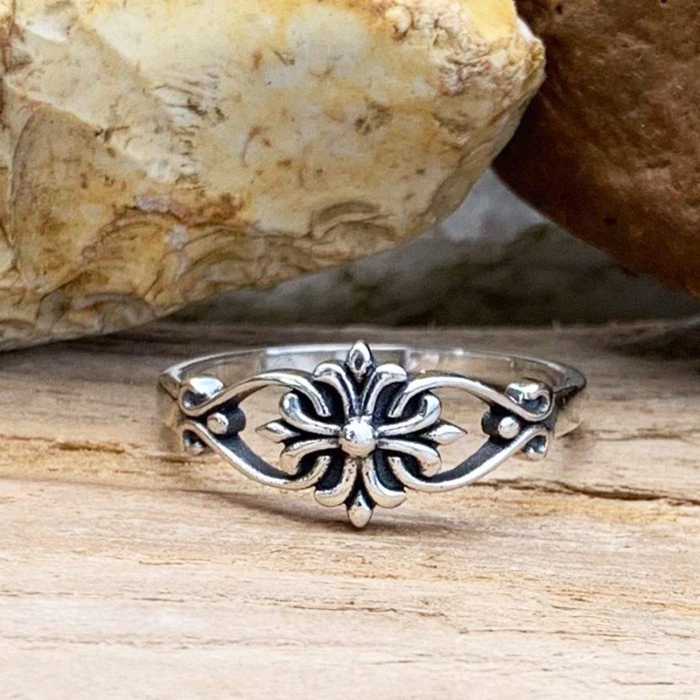 Sterling Silver Ornamental Ring
