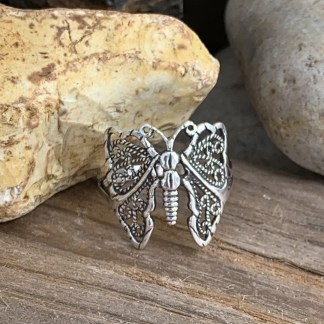Sterling Filigree Butterfly Ring