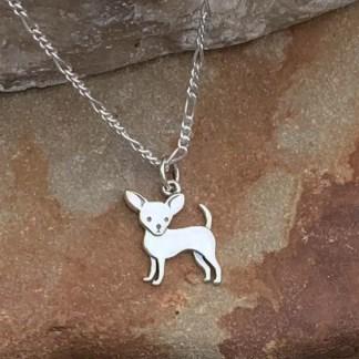 Charming Chihuahua Sterling Charm-Pendant