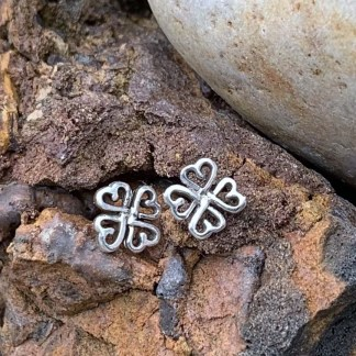 Four Hearts Sterling Studs